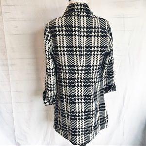 Lands' End Jackets & Coats - Lands End black white 8 houndstooth pea coat wool